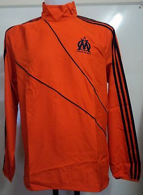 Olympic Marseille Orange Windbreaker By Adidas Size 36/38 Inch Chest Brand New
