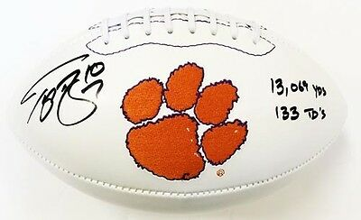 """Tajh Boyd Autographed/Signed Clemson Tigers Embroidered Logo Football """"Stats"""""""