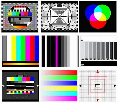 TV Test Card / Video Pattern Generator & Test Tones DVD: LED, LCD, & Plasma TV