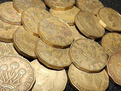 Collection Of 15 George Vi Brass Threepence 3-D Coins
