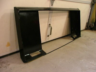"""Universal Skid Steer Attachment Mount Plate - 1/4"""" & 3/8"""" - fits Bobcat & more"""