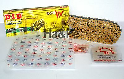 * Suzuki DL 650 V-Strom DID Kettensatz chain kit VX 525 G&B gold 2007 - 2010