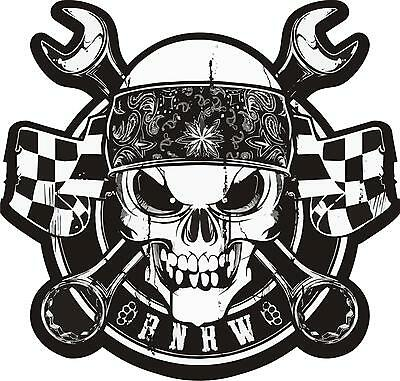 Bandana Skull - Rock n Race Wear Aufkleber Sticker V8 Hot Rod Rock n Roll Custom