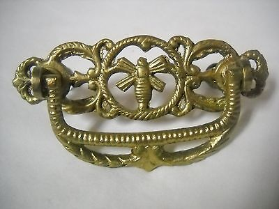 "Antique Victorian Cast Brass Drawer Pulls Yellow Jacket 3 "" Centers"