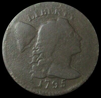 1795 Liberty Cap Flowing Hair Cent Plain Edge Variety