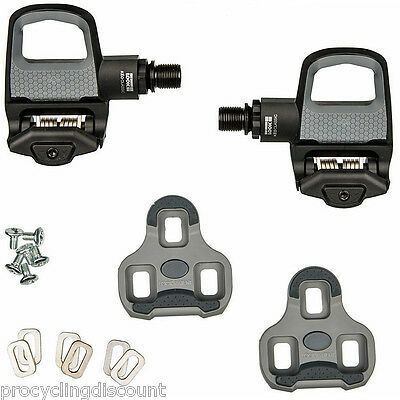 NEW 2016 LOOK KEO CLASSIC 2 Road Pedals with Gray Grip Cleats: BLACK /GRAY