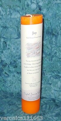 """Joy Pillar Candle New Crystal Journey Herbal Reiki Charged Healing Happiness  7"""""""