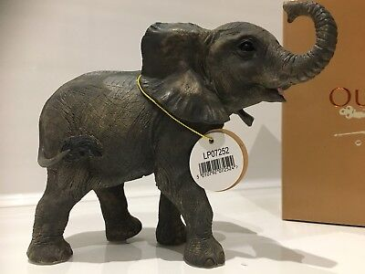 Baby Elephant Calf Ornament Figurine Figure Gift Present