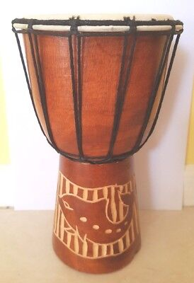 *SOLD OUT* More coming 25 cm Bongo Djembe Hand DRUM. Animal Designs. Fun Size!!