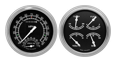 Classic Instruments 51-52 Chevy Car Package w/ Traditional Gauges Dash Insert