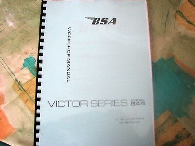 BSA B44 All Models - Workshop Manual Factory Copy 1966 -1968 00-4128 - BW31