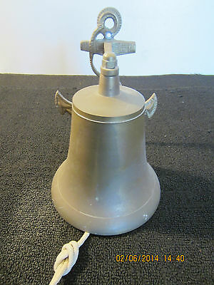 Maritime Decor, Brass Anchor Backed Boat Bell
