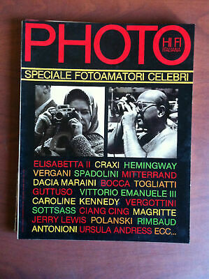 Photo HI FI Italiana n° 74 Agosto 1981 Cover: Elisabetta e Craxi - E9843