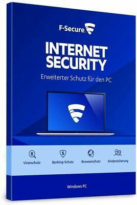 F-Secure Internet Security 2019 VOLLVERSION 3 PC Upgrade Antivirus 2018 DE EU
