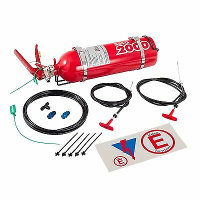Lifeline Club Motorsport Mechanical Plumbed in Fire Extinguisher Kit 2.25  MSA