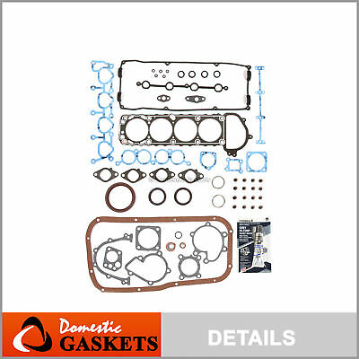 Fit 91-94 Nissan 240SX 2.4L DOHC Full Gasket Set KA24DE