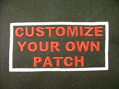 Custom Embroidery Personalized Biker Outlaw Patch Motorcycle Embroidered Sayings