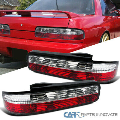 For Nissan 89-94 240SX S13 Coupe 2Dr Tail Lights Brake Stop Rear Lamps Red Clear