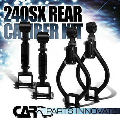 For 1989-1994 Nissan 240SX S13 Rear Suspension Traction Camber Arm Rod Toe Kit
