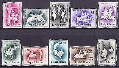 San Marino 1963 - Sc# 554 - 563 Mint Never Hinged Medieval  Knightly Games