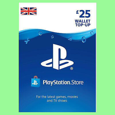 Playstation 3 PSN Network Card £25 UK Store für PS3 PS4 PSP