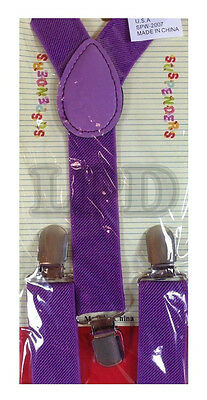 New CUTE KIDS BABY PURPLE Suspenders Adjustable Fashion Suspenders For Youth