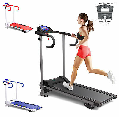 New Motorised Treadmill With Incline Running Machine Folding Away 10km