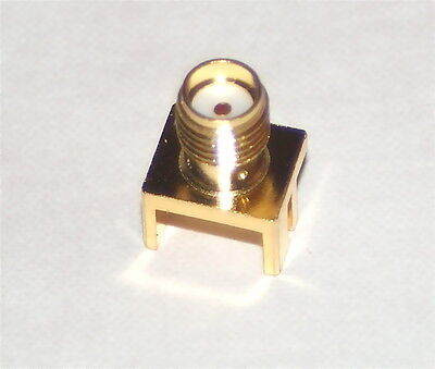 HIGH FREQUENCY SMA JACK 50ohm - DC to 18GHz - PCB MOUNT END LAUNCH
