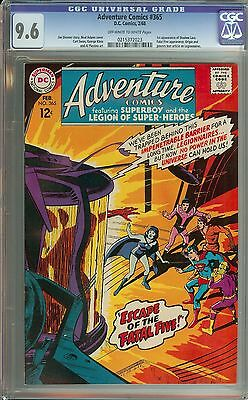 Adventure Comics #365 Cgc 9.6 Ow/wh Pages // 1St Appearance Of Shadow Lass