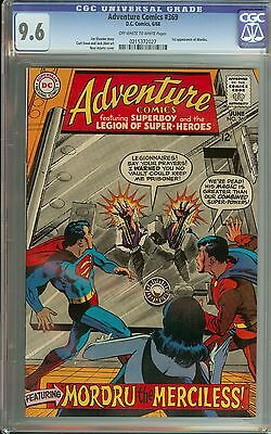 Adventure Comics #369 Cgc 9.6 Ow/wh Pages // 1St Appearance Of Mondru