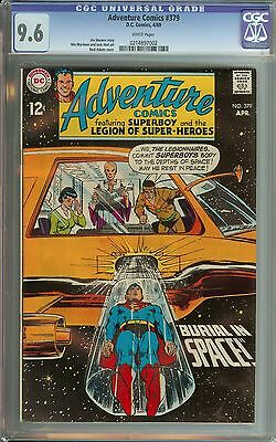Adventure Comics #379 Cgc 9.6 White Pages // Neal Adams Cover