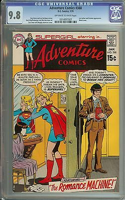 Adventure Comics #388 Cgc 9.8 Ow/wh Pages // Luthor/brainiac Appearances