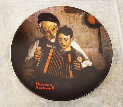 NORMAN ROCKWELL Knowles Collectors Plate The Music Maker With Authenticity
