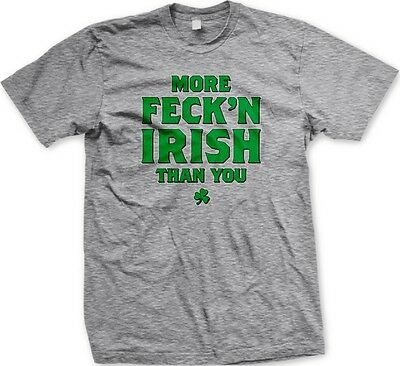Mens More Feckn Irish Thank You Tee Red Stringer Tank Top