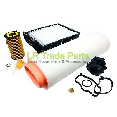 Land Rover Freelander Td4 Full Service Filter Kit With New Modified Oil Breather