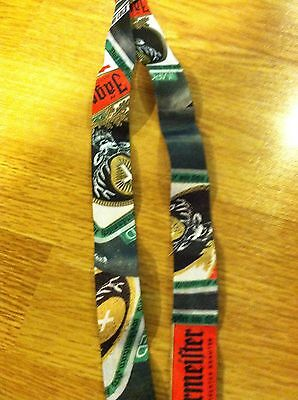 Jagermeister Lanyard Key Chain!! NEw RARE!! NICE!! With Detachable Key Clip!!