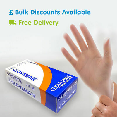 Latex Free & Powder Free Disposable Gloves General Purpose 10 100 200 1000 2000