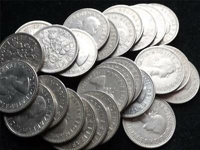 """1958 Elizabeth Ii Uk """"Lucky"""" Sixpence Coin - Multiple Coins Available - Weddings"""
