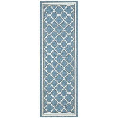 Safavieh Blue/ Beige Indoor Outdoor Rug (2'4 x 6'7)