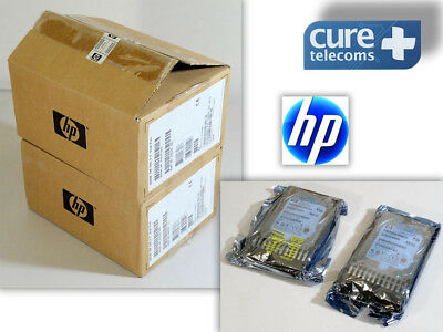 "Lote de 2 Discos Duros nuevos. HP 300GB 10K SAS 2,5"" HDD  Dual Port+ Caddy."