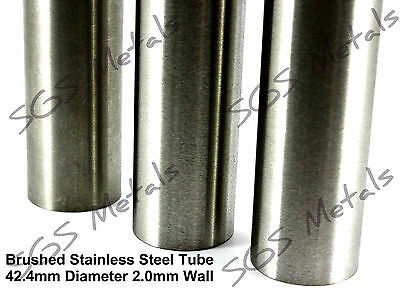 Qty 2 ROUND END CAPS Modular Handrail System 42.4mm Stainless Steel Tube E465