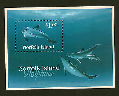 NORFOLK ISLAND:1997 Dolphins m/sheet SG MS 642 unmounted mint