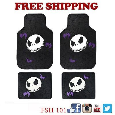 Brand New Nightmare Before Christmas Jack Car Truck Front Back Rubber Floor Mats
