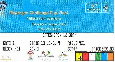 Hull FC v Leeds Rhinos 2005 Challenge Cup Final Rugby League Ticket