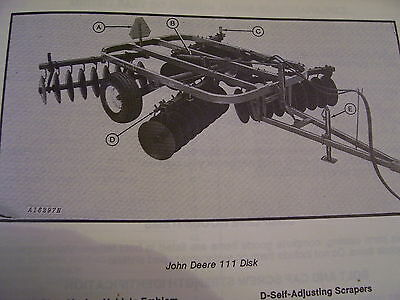 Vintage John Deere Parts Manual 111 Disk Harrow 1299 Picclick