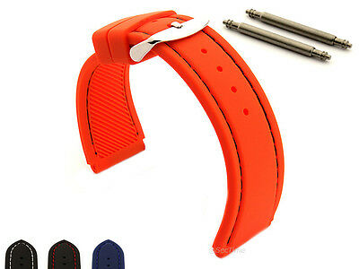 Notched Corners Silicone Rubber Watch Strap Band Waterproof ASTRO Spring Bars