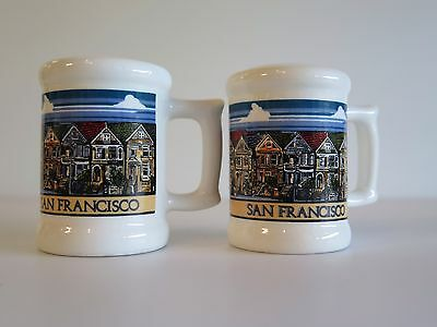 Vintage San Francisco Salt & Pepper Shakers Featuring Victorian Houses