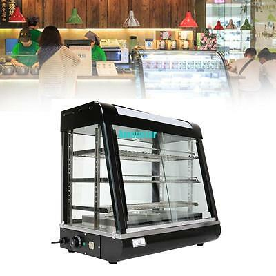 18500W Hot Food Pie Snack Warmer Glass Commercial Display Cabinet Showcase