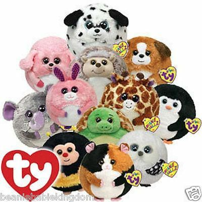 """Ty Beanie Ballz - Choose From Lots of Different Designs - 4""""  Balls Plush Toy"""