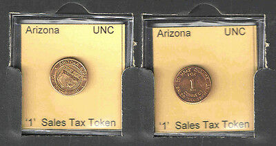 ARIZONA '1' COPPER SALES TAX TOKEN    BRILLIANT UNCIRCULATED  1930s